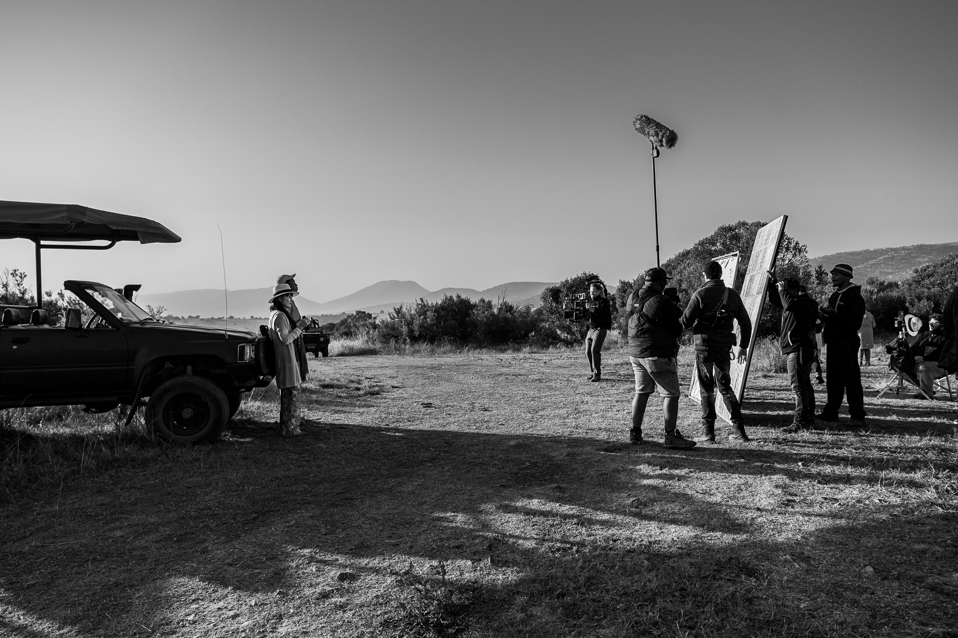 Shoot Day 08 of 19; Sc 2/5A; Ext. morn 3; North Hill: BTS.