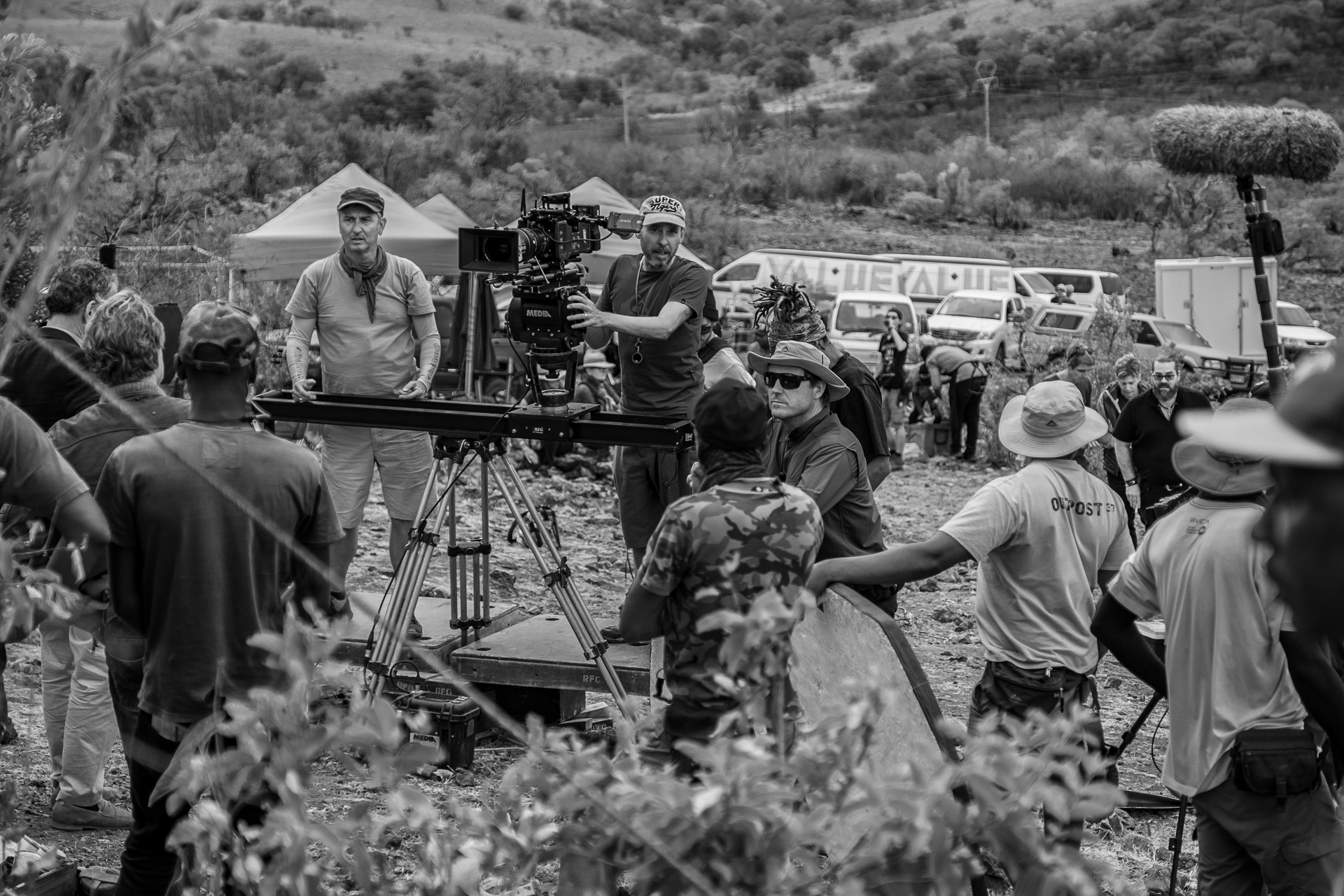 Shoot Day 14 of 22; Sc 22; Ext. Crash Site in the Bush: BTS.