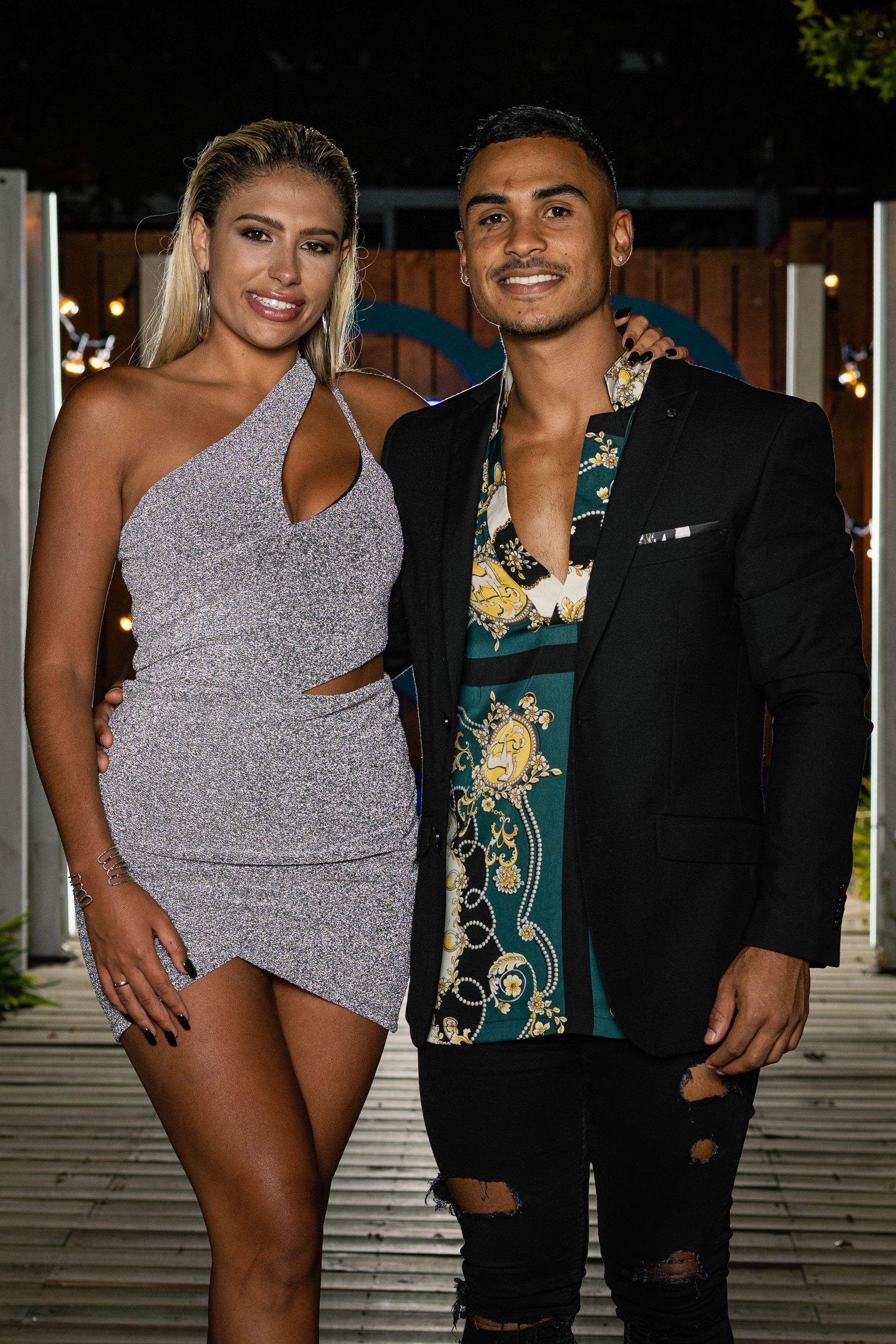 """Electronic Media Network (Pty) (Ltd)1985/002853/06Love Island SA on M-Net 101Pictured: Finale - Millie & AsadThis photograph is copyrighted by M-Net and can only be used for editorial purposes in direct connection with the programme or event mentioned above (""""Permitted Use""""). This photograph will not be used in any other way other than the Permitted Use. Without limitation to the generality of the foregoing, this photograph will not be used, framed or linked in such a way that the photograph appears as part of any unauthorised public domain. This photograph must not be syndicated by any other company, publication or website, or permanently archived without the express written permission by M-Net Publicity."""