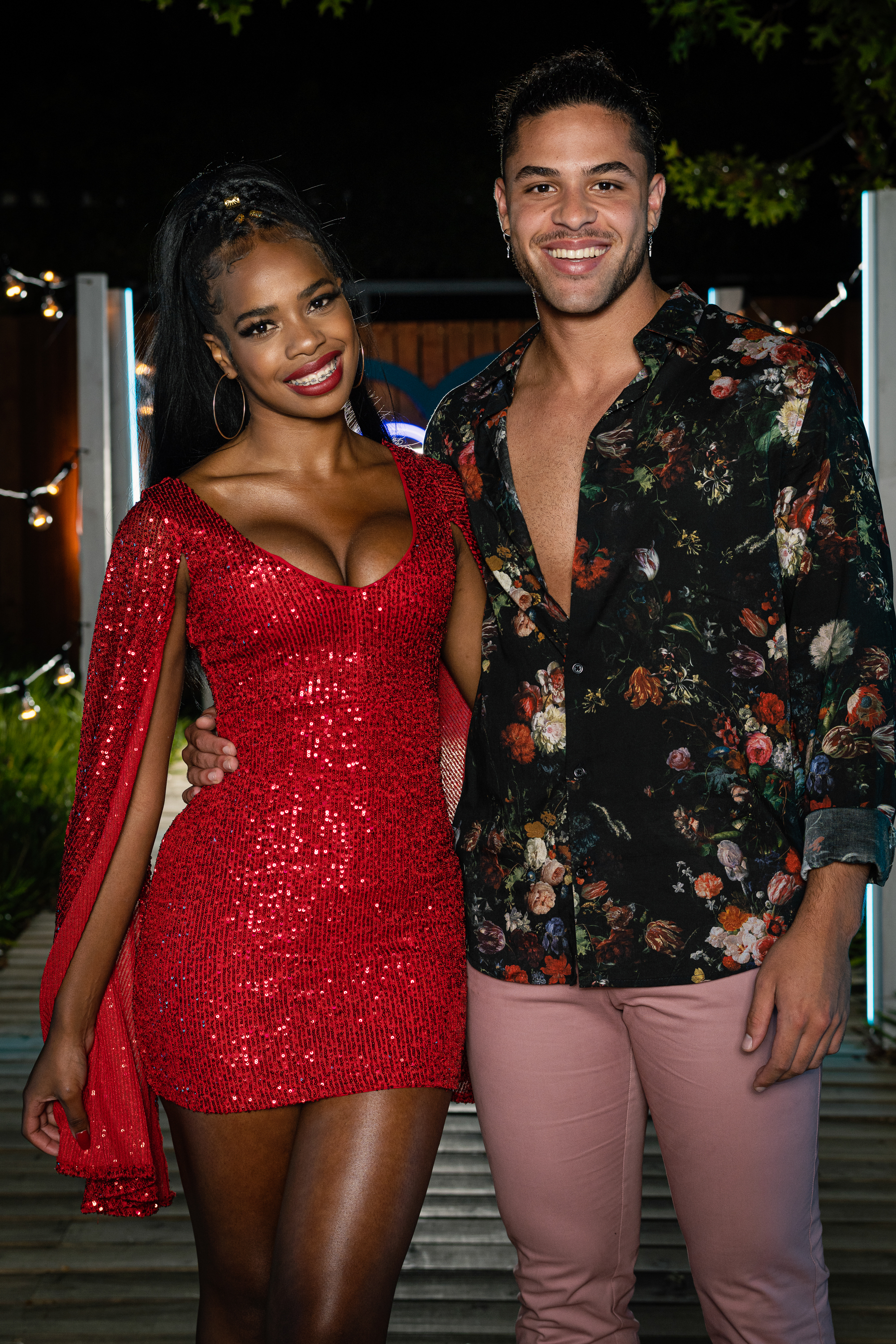 """Electronic Media Network (Pty) (Ltd)1985/002853/06Love Island SA on M-Net 101Pictured: Finale - Tania & RossThis photograph is copyrighted by M-Net and can only be used for editorial purposes in direct connection with the programme or event mentioned above (""""Permitted Use""""). This photograph will not be used in any other way other than the Permitted Use. Without limitation to the generality of the foregoing, this photograph will not be used, framed or linked in such a way that the photograph appears as part of any unauthorised public domain. This photograph must not be syndicated by any other company, publication or website, or permanently archived without the express written permission by M-Net Publicity."""